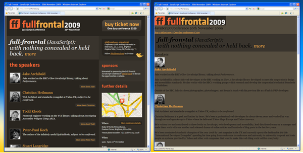 IE with and without JavaScript to fix HTML 5