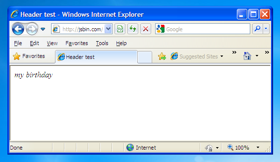 IE with HTML 5 shiv