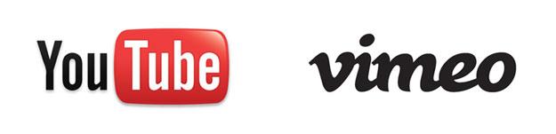 YouTube and Vimeo Logos
