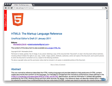 HTML5: The Markup Language Reference screenshot