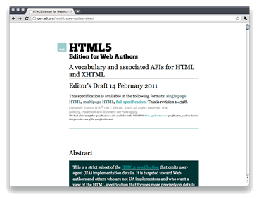 HTML5 for Web Authors screenshot