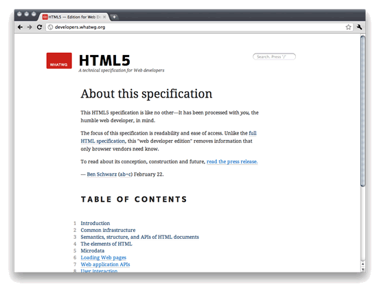 HTML5 for Web Developers screenshot