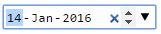Screenshot of WebKit's native date input on Chrome