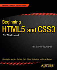 Cover image of Beginning HTML5 and CSS3: The Web Evolved.